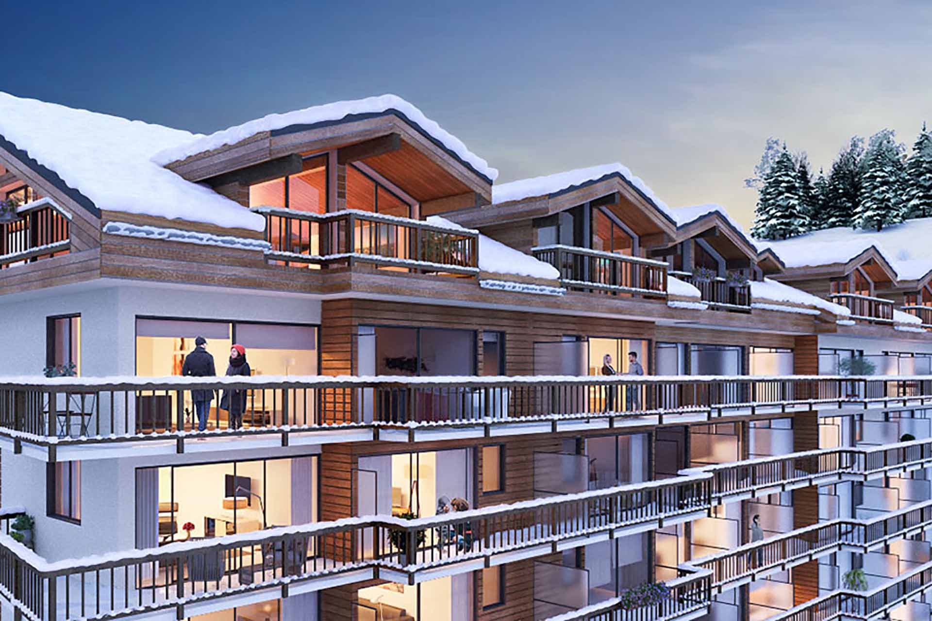A stunning three bedroom Penthouse apartment for sale in Courchevel 1650