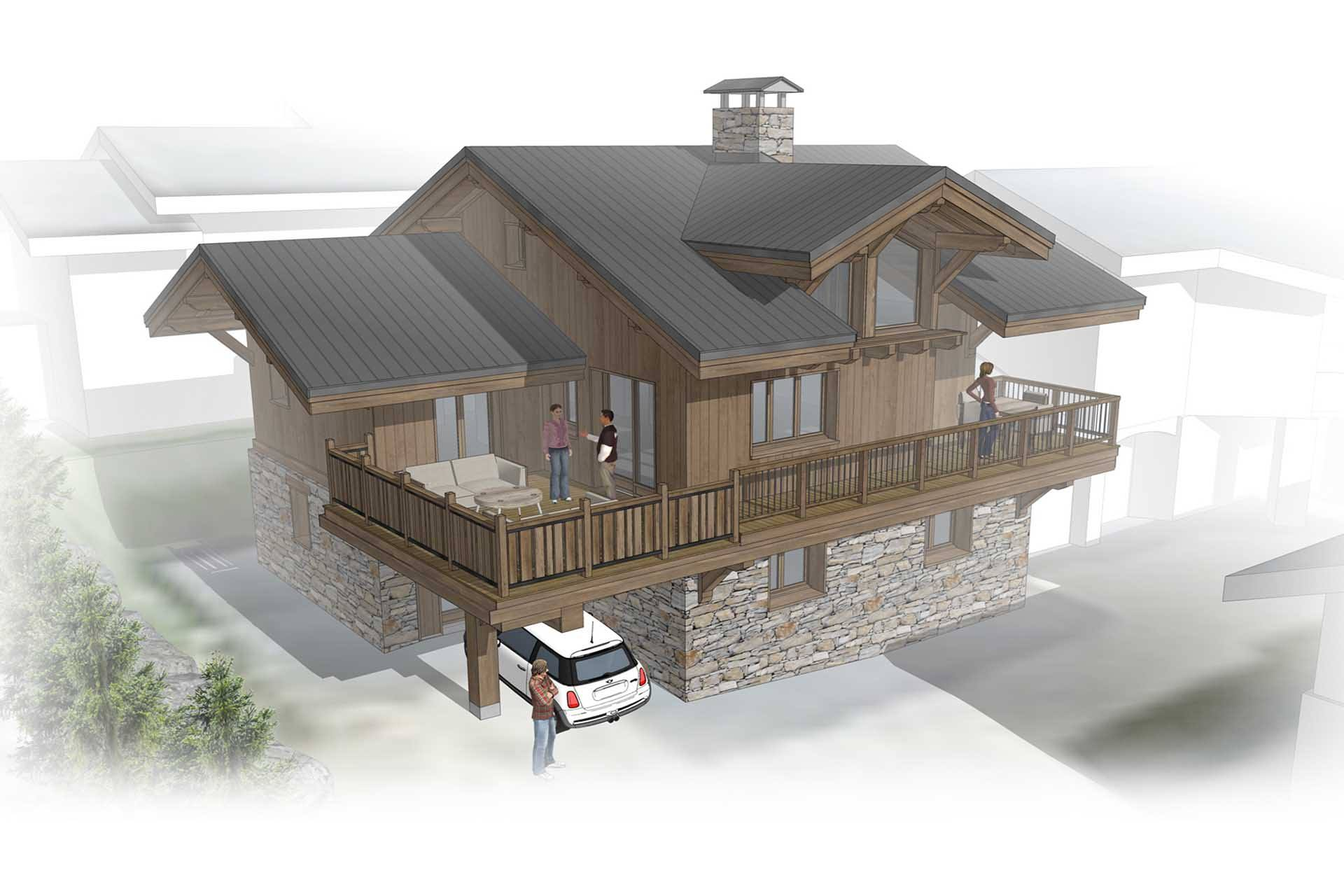 high quality chalet project in villarabout