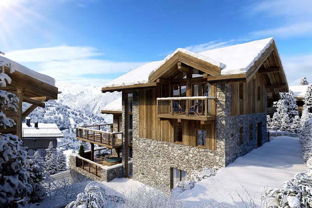 new build family chalet in st Martin de Bellleville