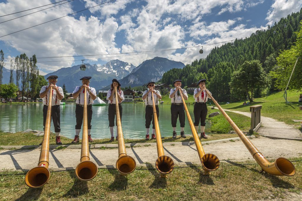Tradition french festivals in the alps