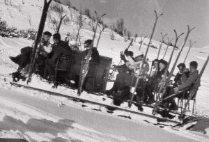 old sled lift, original ski lift